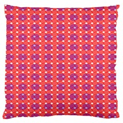 Roll Circle Plaid Triangle Red Pink White Wave Chevron Standard Flano Cushion Case (one Side) by Alisyart