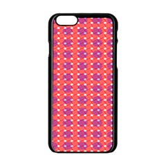 Roll Circle Plaid Triangle Red Pink White Wave Chevron Apple Iphone 6/6s Black Enamel Case by Alisyart