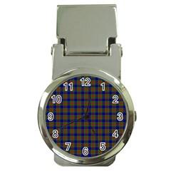 Tartan Fabrik Plaid Color Rainbow Money Clip Watches by Alisyart