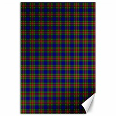 Tartan Fabrik Plaid Color Rainbow Canvas 24  X 36  by Alisyart