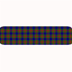 Tartan Fabrik Plaid Color Rainbow Large Bar Mats by Alisyart