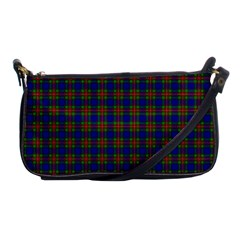 Tartan Fabrik Plaid Color Rainbow Shoulder Clutch Bags by Alisyart