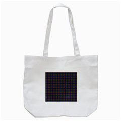 Tartan Fabrik Plaid Color Rainbow Tote Bag (white) by Alisyart