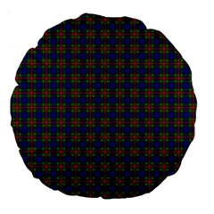 Tartan Fabrik Plaid Color Rainbow Large 18  Premium Flano Round Cushions by Alisyart