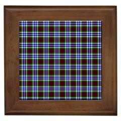 Tartan Fabrik Plaid Color Rainbow Triangle Framed Tiles