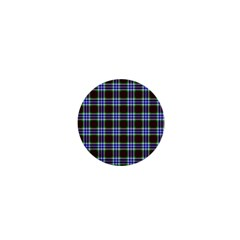 Tartan Fabrik Plaid Color Rainbow Triangle 1  Mini Buttons by Alisyart