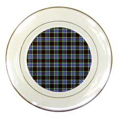 Tartan Fabrik Plaid Color Rainbow Triangle Porcelain Plates by Alisyart
