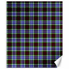 Tartan Fabrik Plaid Color Rainbow Triangle Canvas 8  X 10  by Alisyart