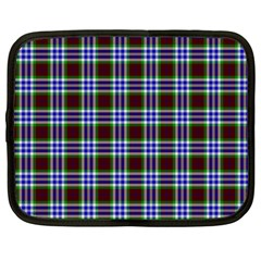 Tartan Fabrik Plaid Color Rainbow Triangle Netbook Case (large) by Alisyart