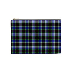 Tartan Fabrik Plaid Color Rainbow Triangle Cosmetic Bag (medium)  by Alisyart
