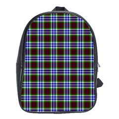 Tartan Fabrik Plaid Color Rainbow Triangle School Bags(large)  by Alisyart