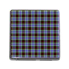 Tartan Fabrik Plaid Color Rainbow Triangle Memory Card Reader (square) by Alisyart