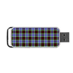 Tartan Fabrik Plaid Color Rainbow Triangle Portable Usb Flash (one Side) by Alisyart