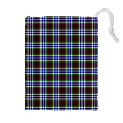 Tartan Fabrik Plaid Color Rainbow Triangle Drawstring Pouches (extra Large) by Alisyart