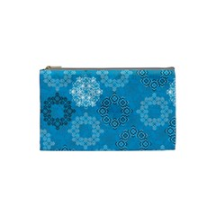 Flower Star Blue Sky Plaid White Froz Snow Cosmetic Bag (small)  by Alisyart