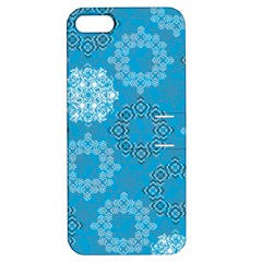 Flower Star Blue Sky Plaid White Froz Snow Apple iPhone 5 Hardshell Case with Stand by Alisyart