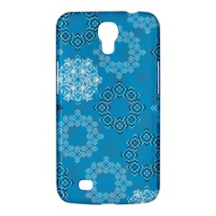 Flower Star Blue Sky Plaid White Froz Snow Samsung Galaxy Mega 6 3  I9200 Hardshell Case by Alisyart