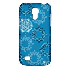 Flower Star Blue Sky Plaid White Froz Snow Galaxy S4 Mini by Alisyart
