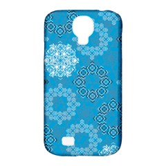 Flower Star Blue Sky Plaid White Froz Snow Samsung Galaxy S4 Classic Hardshell Case (pc+silicone) by Alisyart