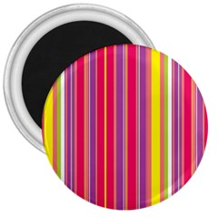 Stripes Colorful Background 3  Magnets by Simbadda