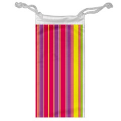 Stripes Colorful Background Jewelry Bag by Simbadda