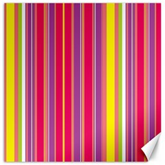 Stripes Colorful Background Canvas 12  X 12   by Simbadda