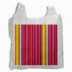 Stripes Colorful Background Recycle Bag (two Side)  by Simbadda