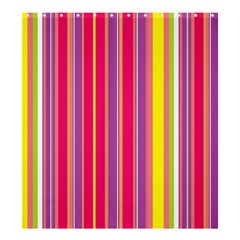 Stripes Colorful Background Shower Curtain 66  X 72  (large)  by Simbadda