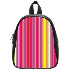 Stripes Colorful Background School Bags (small)  by Simbadda