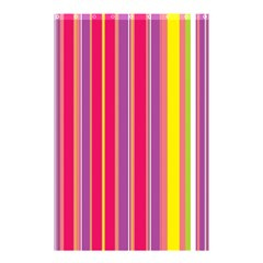 Stripes Colorful Background Shower Curtain 48  X 72  (small)  by Simbadda