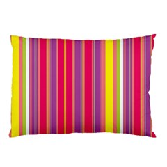 Stripes Colorful Background Pillow Case (two Sides) by Simbadda