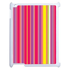Stripes Colorful Background Apple Ipad 2 Case (white) by Simbadda