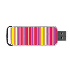 Stripes Colorful Background Portable Usb Flash (two Sides) by Simbadda