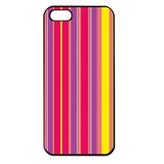 Stripes Colorful Background Apple Iphone 5 Seamless Case (black) by Simbadda