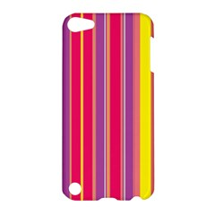 Stripes Colorful Background Apple Ipod Touch 5 Hardshell Case by Simbadda