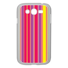 Stripes Colorful Background Samsung Galaxy Grand Duos I9082 Case (white) by Simbadda