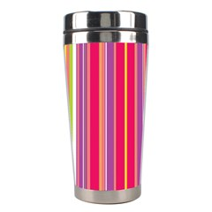 Stripes Colorful Background Stainless Steel Travel Tumblers by Simbadda