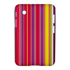 Stripes Colorful Background Samsung Galaxy Tab 2 (7 ) P3100 Hardshell Case  by Simbadda