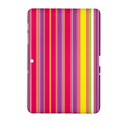 Stripes Colorful Background Samsung Galaxy Tab 2 (10 1 ) P5100 Hardshell Case  by Simbadda