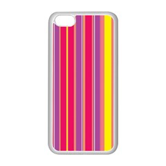 Stripes Colorful Background Apple Iphone 5c Seamless Case (white) by Simbadda