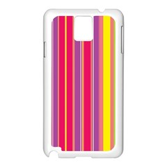 Stripes Colorful Background Samsung Galaxy Note 3 N9005 Case (white) by Simbadda