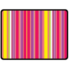 Stripes Colorful Background Double Sided Fleece Blanket (large)  by Simbadda