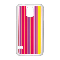 Stripes Colorful Background Samsung Galaxy S5 Case (white) by Simbadda