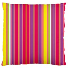 Stripes Colorful Background Standard Flano Cushion Case (one Side) by Simbadda