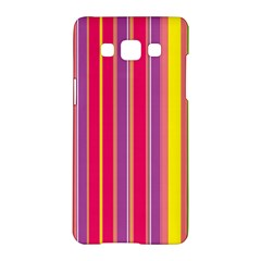 Stripes Colorful Background Samsung Galaxy A5 Hardshell Case  by Simbadda