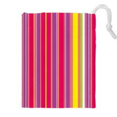 Stripes Colorful Background Drawstring Pouches (xxl) by Simbadda