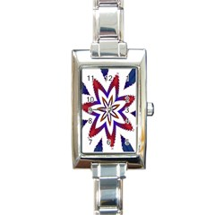 Fractal Flower Rectangle Italian Charm Watch by Simbadda