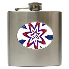 Fractal Flower Hip Flask (6 Oz) by Simbadda
