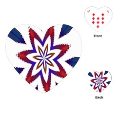 Fractal Flower Playing Cards (heart)  by Simbadda
