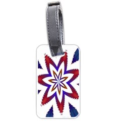 Fractal Flower Luggage Tags (one Side)  by Simbadda